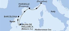 MSC Preziosa - Španělsko, Francie, Itálie (z Barcelony)