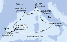 MSC Fantasia - Itálie, Francie, Španělsko (z Janova)