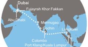 Costa Venezia - Arabské emiráty, Indie, Srí Lanka, Malajsie, Singapur (Dubaj)