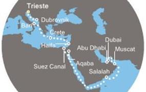 Costa Venezia - Itálie, Chorvatsko, Řecko, Jordánsko, Omán, Arabské emiráty (Terst)