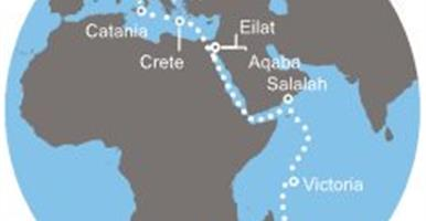 Costa Mediterranea - Itálie, Řecko, Izrael, Jordánsko, Omán, Seychely, Réunion, Mauritius (z Janova)