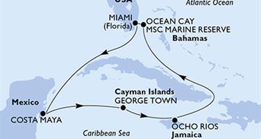 MSC Seaside - USA, Mexiko, Kajmanské ostrovy, Jamajka, Bahamy (z Miami)