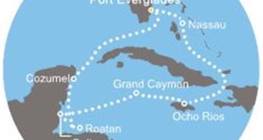 Costa Luminosa - Florida (USA), Bahamy, Jamajka, Kajmanské ostrovy, Belize, Honduras, Mexiko (Fort Lauderdale)