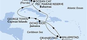 MSC Divina - USA, Aruba, Jamajka, Kajmanské ostrovy, Bahamy (z Miami)