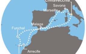 Costa Pacifica - Itálie, Francie, Kanárské ostrovy, Madeira, Španělsko (z Civitavecchie)