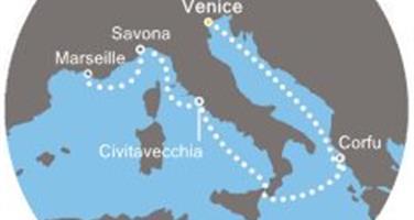 Costa Luminosa - Itálie, Řecko, Francie (z Benátek)