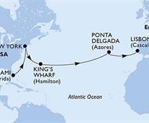 MSC Divina - USA, Bermudy, Portugalsko (z Miami)