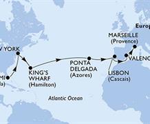MSC Divina - USA, Bermudy, Portugalsko, Španělsko, Francie (z Miami)