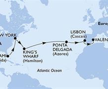 MSC Divina - USA, Bermudy, Portugalsko, Španělsko (z Miami)