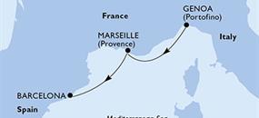 MSC Meraviglia - Itálie, Francie, Španělsko (z Janova)