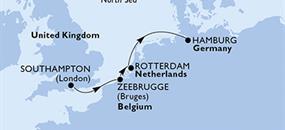 MSC Preziosa - Velká Británie, Belgie, Nizozemí, Německo (Southampton)