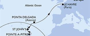 MSC Preziosa - Martinik, Guadeloupe, Antigua a Barbuda, Portugalsko, Francie (Fort-de-France)