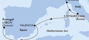 MSC Divina - Itálie, Španělsko, Portugalsko (z Janova)