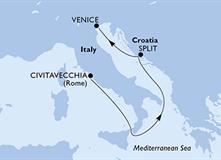 MSC Lirica - Itálie, Chorvatsko (z Civitavecchie)