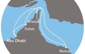 Costa Mediterranea - Arabské emiráty, Omán (Abú Dhabí)