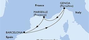 MSC Magnifica - Itálie, Francie, Španělsko (z Janova)