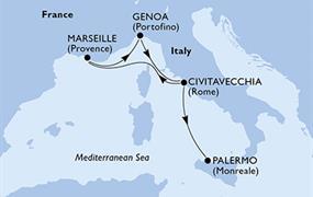 MSC Divina - Itálie, Francie (z Civitavecchie)