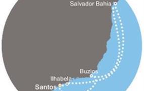 Costa Favolosa - Brazílie (Santos)