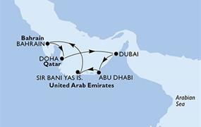 MSC Splendida - Arabské emiráty, Bahrajn, Katar (Dubaj)