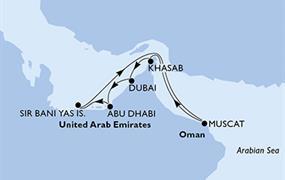 MSC Splendida - Arabské emiráty, Omán (Dubaj)