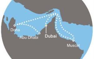 Costa Mediterranea - Arabské emiráty, Omán (Dubaj)