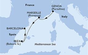 MSC Orchestra - Itálie, Francie, Španělsko (z Janova)