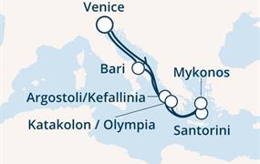 Costa Deliziosa - Itálie, Řecko (z Benátek)