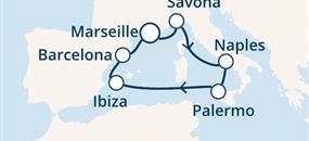 Costa Diadema - Francie, Itálie, Baleáry, Španělsko (Marseille)