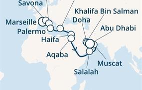 Costa Diadema - Francie, Itálie, Řecko, Jordánsko, Omán, Arabské emiráty (Marseille)