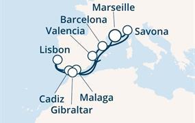 Costa Fascinosa - Francie, Španělsko, Portugalsko, Gibraltar, Itálie (Marseille)