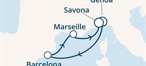 Costa Magica - Itálie, Španělsko, Francie (z Janova)