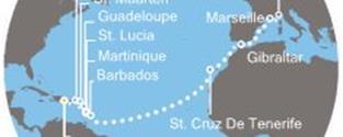 Costa Magica - Dominikán.rep., Panenské ostrovy, Antily, Kanárské ostrovy, Gibraltar, Francie, Itálie (z La Romana)