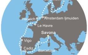 Costa Magica - Itálie, Španělsko, Portugalsko, Francie, Anglie, Švédsko (ze Savony)