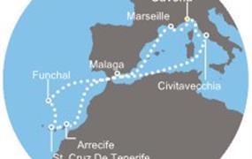 Costa Favolosa - Itálie, Francie, Kanárské ostrovy, Madeira, Španělsko (ze Savony)