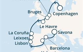 Costa Fascinosa - Dánsko, Belgie, Francie, Španělsko, Portugalsko, Itálie (Kodaň)