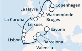 Costa Fascinosa - Německo, Dánsko, Belgie, Francie, Španělsko, Portugalsko, Itálie (Warnemünde)