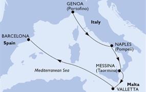 MSC Bellissima - Itálie, Malta, Španělsko (z Janova)