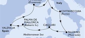 MSC Fantasia - Itálie, Španělsko, Francie (z Janova)