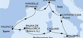 MSC Fantasia - Itálie, Španělsko, Francie (z Civitavecchie)