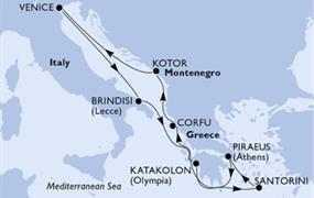 MSC Musica - Itálie, Řecko, Černá Hora (z Benátek)