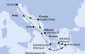MSC Orchestra - Itálie, Řecko, Albánie, Chorvatsko (z Benátek)