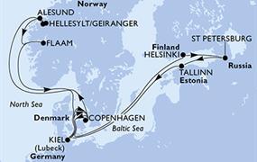 MSC Meraviglia - Dánsko, Finsko, Rusko, Estonsko, Německo, Norsko (Kodaň)