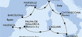 MSC Fantasia - Španělsko, Francie, Itálie (z Barcelony)