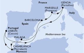 MSC Splendida - Itálie, Španělsko, Maroko, Portugalsko, Francie (z Janova)