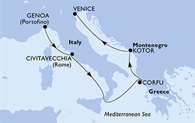 MSC Magnifica - Itálie, Řecko, Černá Hora (z Janova)