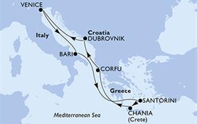 MSC Magnifica - Itálie, Řecko, Chorvatsko (z Benátek)
