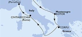 MSC Magnifica - Itálie, Černá Hora, Řecko (z Benátek)