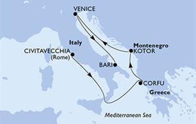 MSC Magnifica - Itálie, Řecko, Černá Hora (z Civitavecchie)