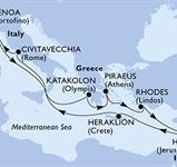 MSC Magnifica - Itálie, Řecko, Izrael (z Janova)