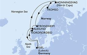 MSC Splendida - Německo, Norsko (Kiel)